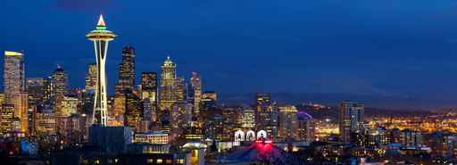 SEATTLE SKYLINE PANORAMA PRINTS